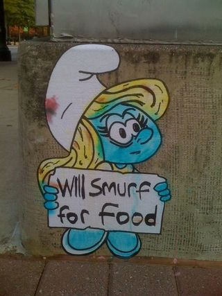 Will-smurf-for-food