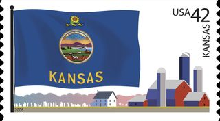 Kansas-state-flag-stamp