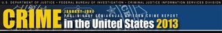 Preliminary Semiannual Uniform Crime Report- January-June 2013-banner